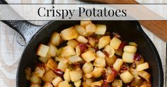 Delicious recipe for crispy potatoes. Great for tacos or as a breakfast or dinner side dish.