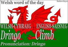 Welsh word of the day: Dringo/Climb