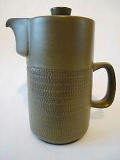 Vintage Denby Chevron Camelot Coffee Pot 12 Stripes/Bands VGC Retro 1970s