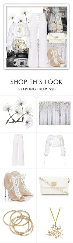 """""""White Summer"""" by freida-adams ❤ liked on Polyvore featuring Yosemite Home Décor, A.L.C., STRATEAS.CARLUCCI, Jimmy Choo, Red Herring, ABS by Allen Schwartz and Humble Chic"""
