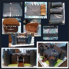 11. Castle Cake. Dort Hrad s fotopostupem, vlastní návrh a výroba k pětatřicátým narozeninám mého muže. 2014