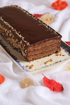 Reform torte (reforma torta), multi-layered torte with chocolate cream filling Sweet Recipes, Cake Recipes, Dessert Recipes, Macedonian Food, Kolaci I Torte, Torte Cake, Croatian Recipes, Salty Cake, Sweets