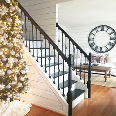 B&W stairs Tree Decorations, Stairs, Photo And Video, Instagram Posts, Basement, Stairway, Root Cellar, Nursery Tree Mural, Staircases