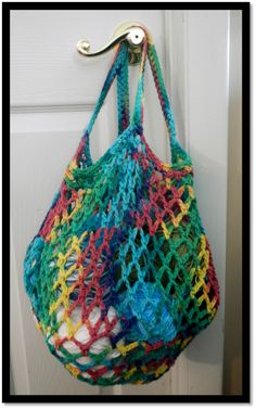 Crochet Market Bag. Click the link leads to more free pattern websites