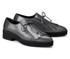 Ideal Damen Schwarz Görtz Shoes Jazz Schnürer Schnürschuhe