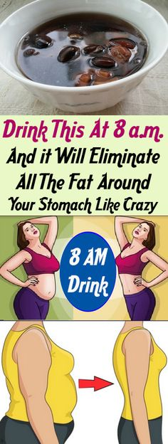 Drink This At 8 a.m. And it Will Eliminate All The Fat Around Your Stomach Like Crazy #health #smoothies #drink #detox #botox #health #diy #fitness #beautyblogger