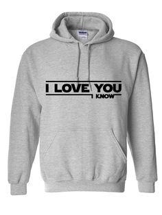 I love you - I know (Star Wars) Hoodie