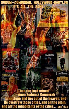 """Hollywood-Babylon like Sodom and Gomorrah"" art work media mix collage by Paul Maler"