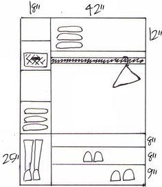 How to build custom closet shelves - * View Along the Way *