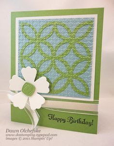 Lattice Die and Square Lattice Embossing Folder: A Perfect Match! - DOstamping with Dawn, Stampin' Up! Demonstrator