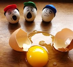 DIY petjes van vilt voor op eieren #eten #kinderen #ei