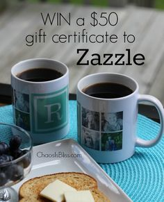 Zazzle Christmas in July gift ideas, and a $50 gift certificate giveaway | ChaosIsBliss.com
