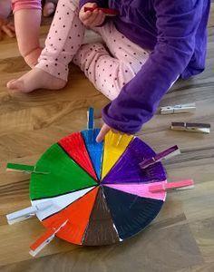 Farben zuordnen, Kleinkinder U3 Spielideen, Bastelideen, Buchtips und Kinder-/Familien-Rezepte