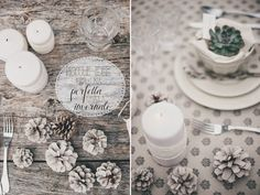Easy Home Decor, Diy Videos, Diy Tutorial, Table Decorations, Simple, Projects, Winter, Tile Projects, Center Pieces
