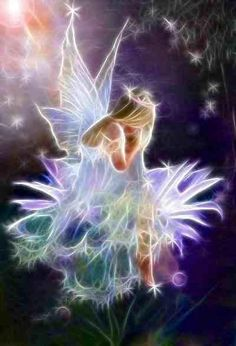 WINGED (FAIRY) The fairies in my stories have iridescent wings.  I love it when an artist can capture the transparency