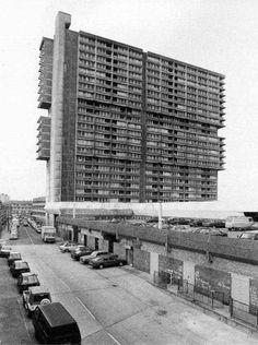 Queen's Road Market development, Newham, London, built in 1968 by Gilbert Ash