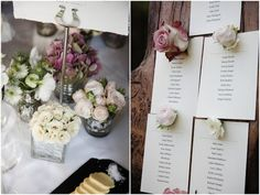 Love this rose table plan. Such a simple idea but oh so romantic! photos by Funky Photographers | Bridal Musings