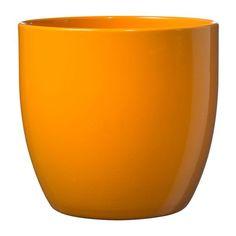 Soendgen Ceramic Flower Pot, Basel Full Colour, Clay, Lime, 14 x 14 x 13 cm Ceramic Flower Pots, Ceramic Planters, Planter Pots, Basel, Orange Plant, Florist Supplies, When I Grow Up, Clay Pots, Green Plants