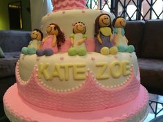 torta baby shower familia