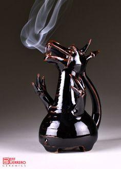 smoking dragon incense burner