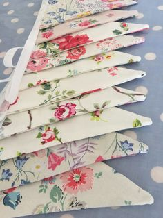 Cath Kidston cotton fabric buntings on my website