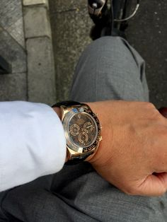 Rolex Daytona Watch, Wood Watch, Michael Kors Watch, Watches, Chocolate, Big, Gold, Accessories, Men