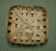 "Vintage North Carolina Tobacco Basket 22"" x 22"" and 4 1/2"" Deep"