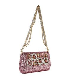 Dolce & Gabbana Crystal Embellished Anna Sequin Shoulder Bag | Harrods.com