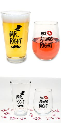 Cute & Awesome Matching Couple Gifts / favors Ideas that are a clever gift /favor for Wedding, Anniversary, Bridal / Birthday Parties, Maarried, engaged etc which can be gifted For Him, Her, Mom, Dad, Grandma Boyfriends, Girlfriend, Friends, Men, Women, Teacher, grandparents, kids, boy, girl, groomsmen, bridesmaid, bride, grooms etc. These Unique, Funny, Hilarious, lmafo, Humor spreading diy personalized vinyl cermic coffee / beer mugs products are creative sharpie that comes with name…