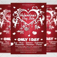 Valentine's Day Sale - Seasonal A5 Flyer Template  #exclusiveflyer #psd #freeflyer #freepsd #valentineparty #lovenight #saintvalentinesday #heart #redhearts #romantic #passion #lovesale #valentinedaysale #valentinessale