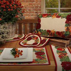 Sander Gobelin  Tischsets GARLAND für den liebevoll gedeckten Tisch m Herbst