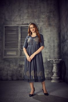 Women's Blue Colored Rayon 2 Tone Pleated Kurti With Foil - gnp007247| Visit : www.grabandpack.com | TO BUY THIS BEAUTIFUL OUTFIT CONTACT US / WHATS APP US ON : +91 9898133588 || EMAIL US AT grabandpack@gmail.com || you can visit on www.grabandpack.com | #style #chennai #cotton  #sareeinspiration #sareesonline #bridalsarees #pet #sareeseduction  #saree2020 #2020trending #kurti #chex #sleeveless #walkway #pleated #indowestern #kurti #straight #charming #bluehills #pearl #handwork #foilprint Stylish Kurtis, Sarees Online, Half Sleeves, Beautiful Outfits, Shirt Dress, How To Wear, Cotton, Blue, App