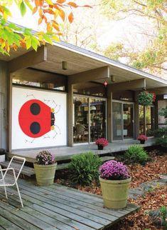 Love the ladybug on the verandah (Charley Harper house)