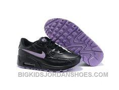 Air Max 90 shoes-Cheap Kid's Nike Air Max 90 Black/Purple For Sale from official Nike Shop. Jordan Shoes For Kids, Air Jordan Shoes, Nike Soccer Shoes, Nike Shoes, Sports Shoes, Nike Air Max Kids, Nike Michael Jordan, Zapatillas Nike Air, New Jordans Shoes