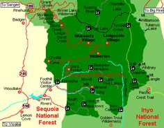 Sequoia National Park Area Map
