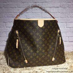 24b4d74404 Louis Vuitton M40354 Delightful GM Hobo Bag Monogram Canvas Louis Vuitton Handbags  Black