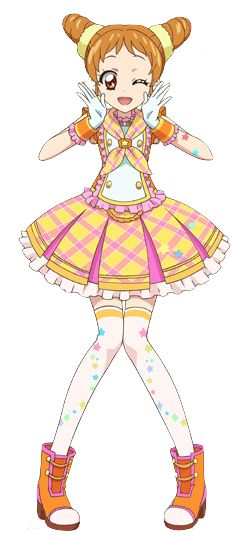 Otome Arisugawa (有栖川 おとめ Arisugawa Otome) is a student of Starlight Academy. She is a Pop type idol, and her favorite brand is Happy Rainbow. Through the events since her debut, she is known as the one who pushed herself the most putting Ichigo Hoshimiya and Mizuki Kanzaki beside, created her own idol unit Powapowa-Puririn and create two versions of its debut song, and eventually succeeded Mizuki as the Starlight Queen.