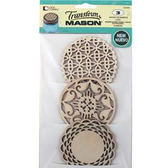 Perfect for topping potpourri or decorated jars, replace Regular Mouth mason jar lids with this variety of decorative cut-out lid inserts.