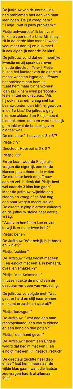 De juffrouw van de.. - Zieer.nl