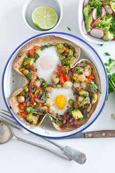 Baked tortilla brunch. Sounds good!