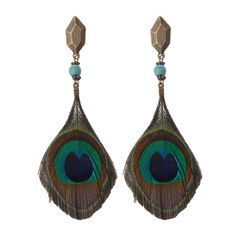 Cheap feather drop earrings, Buy Quality feather earrings directly from China trendy earrings Suppliers: Amader New Arrival Unique Design Big Peacock Feather Drop Earrings Boho Feather Earrings Peacock Tail Trendy Earrings Indian Earrings, Feather Earrings, Tassel Earrings, Dangle Earrings, Peacock Tail, Jewelry Accessories, Jewelry Design, Feather Crafts, Vintage Design
