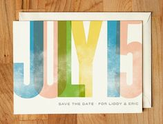 save the date. minimal. typography.