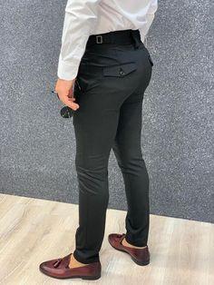 Mens Slacks, Men Trousers, Slim Fit Trousers, Suit Pants, Slacks Outfit, Black Outfit Men, Formal Pants, Summer Outfits Men, Black Singles
