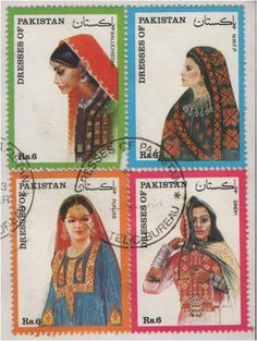 Pakistan Stamps - National costume