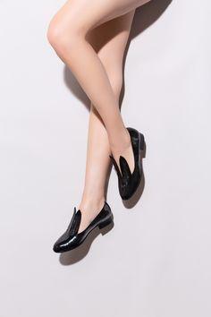 Minna Parikka's Bunny Loafer in black patent