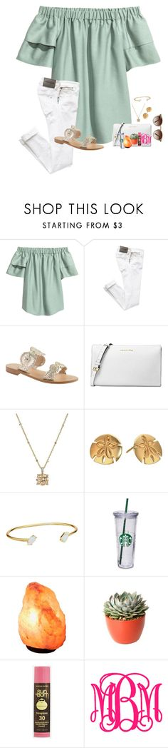 """""""~✨feels✨~"""" by taylortinsley ❤ liked on Polyvore featuring H&M, Jack Rogers, Michael Kors, Vera Bradley, Alex and Ani, Kendra Scott, PLANT, Sun Bum and Ray-Ban"""