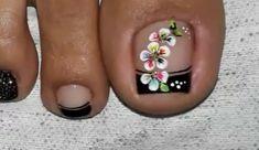 Pedicure Nail Art, Pedicure Designs, Toe Nail Designs, Toe Nail Art, Toe Nails, Hawaii Nails, Blue Acrylic Nails, Pretty Nail Designs, Flower Nails