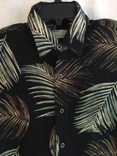 Natural Issue Men's Shirt Silky Touch Hawaiian Large SS Button Front #NaturalIssueSilkyTouch #Hawaiian