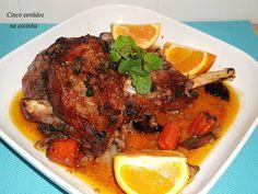 Cinco sentidos na cozinha: Perna de borrego assada no forno com hortelã