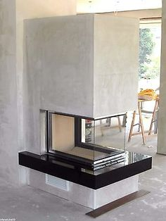 Matthew saved to homemadeOfen Brunner Panorama Kamin Home Fireplace, Modern Fireplace, Fireplace Design, Fireplaces, Interior Design Living Room, Living Room Decor, Chimney Decor, Chimney Breast, Fireplace Accessories